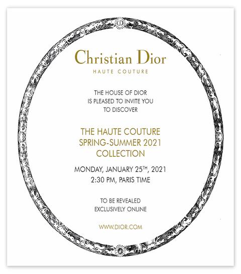 Dior lance un défilé virtuel pour la collection printemps-été 2021