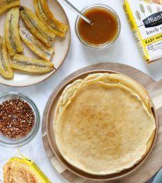 Les Lovely Crepes caramel bananes de stoempitup