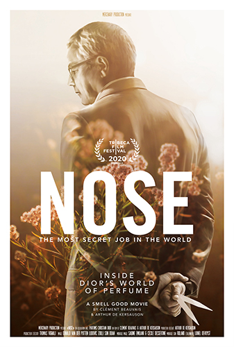 L'affiche de NOSE, un film documentaire signé Dior.