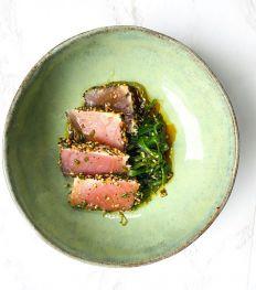 Le tataki de thon rouge et algues de Cumpartio