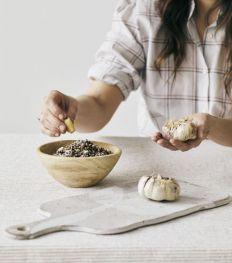 L'ail rôti, lentilles et parmesan d'Aline Gérard