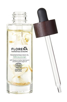 Florena Fermented Skincare Huile Régénérante pour le visage.