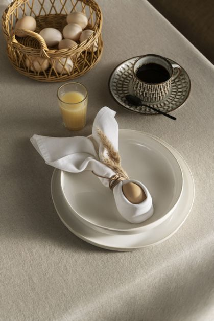 serviette oeuf pâques