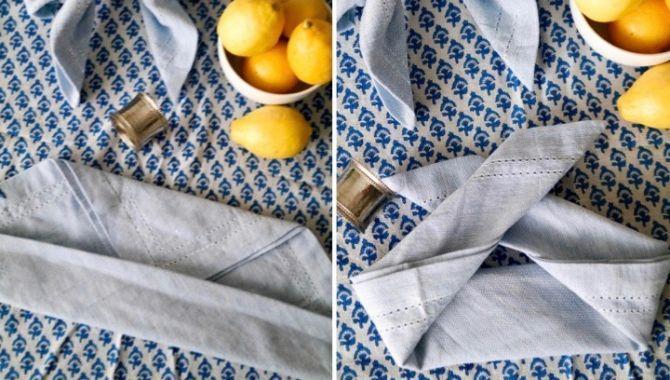 serviette pliage noeud