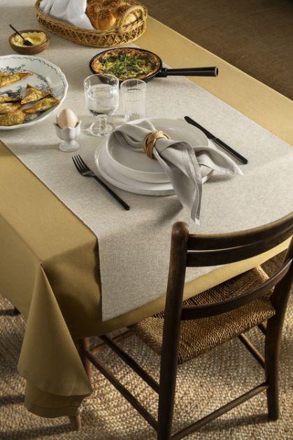 serviette table