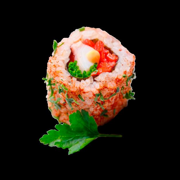 spanish roll sushis