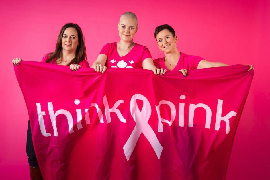 Membres de l'ASBL Think Pink