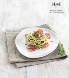 Apprenez à cuisiner le Salamini Italiani alla Cacciatora AOP depuis la maison