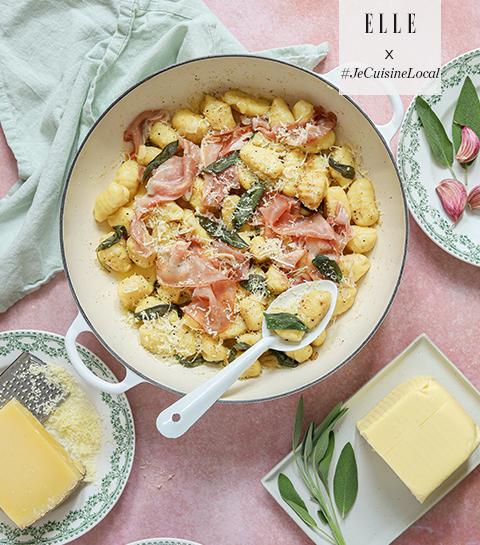 Gnocchi, beurre à la sauge et jambon d'Ardenne IGP