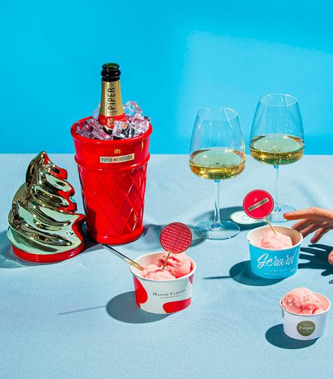 Le plaisir gourmand de cet été : la glace au champagne