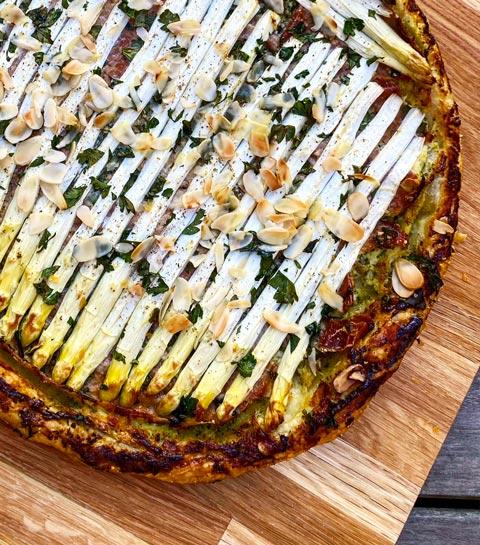 La tarte jambon italien et asperges vertes d'Happy Nutri Coach