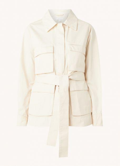 Veste utilitaire avec poches à rabat et ceinture à nouer Cos 115€