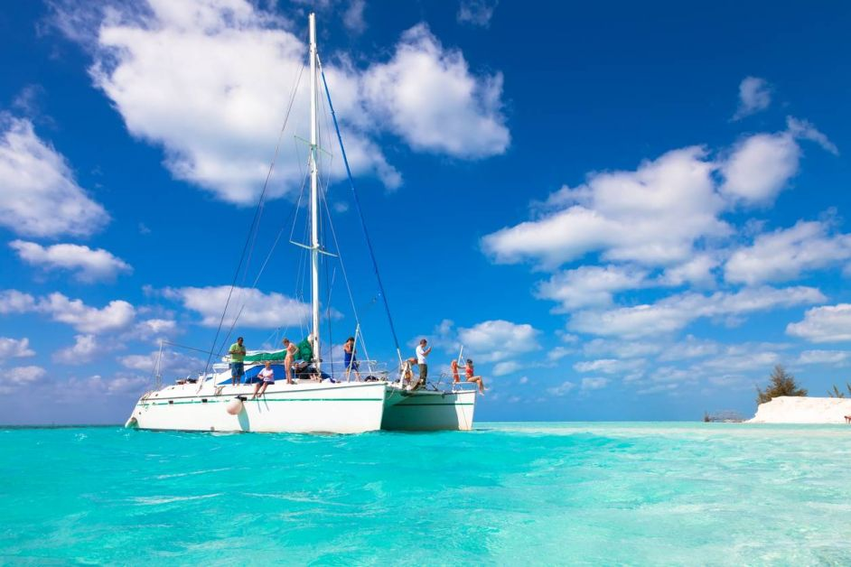 catamaran croisière Seychelles filles