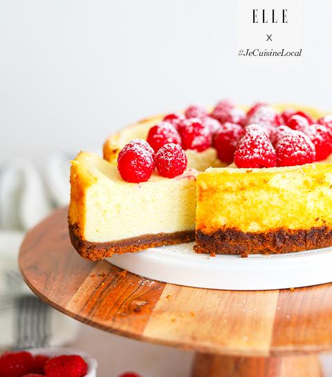 Cheesecake aux framboises et au spéculoos