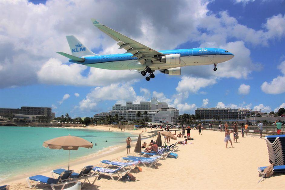 Atterrissage avion Saint-Martin