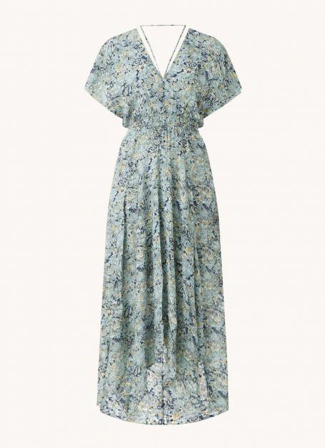 Robe tunique longue d'indicateurs à imprimé floral et col en V Maje 295€