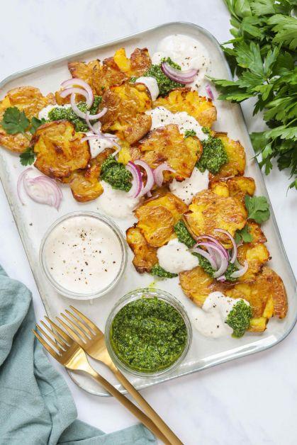 Pommes de terre écrasées au yaourt et aux herbes - 1