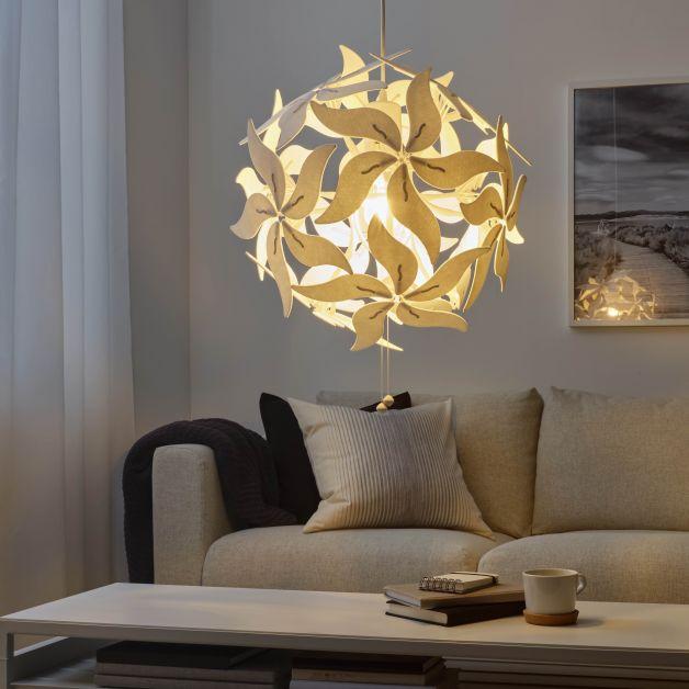 IKEA RAMSELE, Suspension, fleur/blanc - 69,99€
