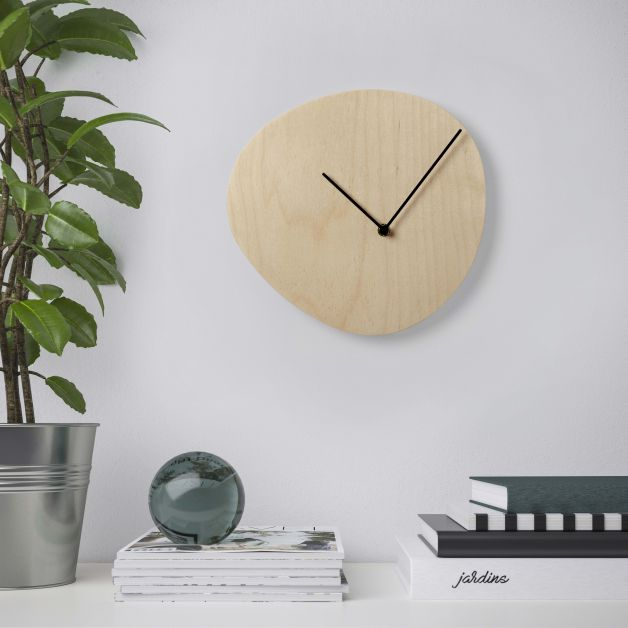 IKEA SNAJDARE, Horloge murale, contreplaqué de bouleau - 19,99€