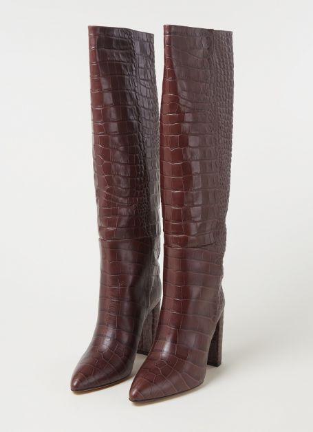 Bottes en cuir avec structure croco Toral 340€