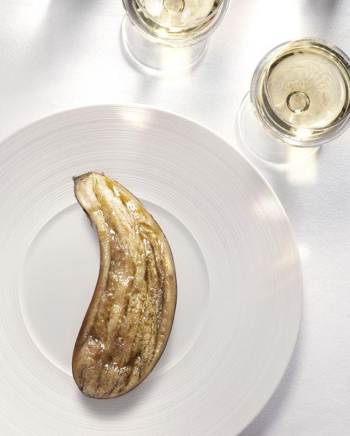 Moët & Chandon Grand Vintage et aubergine rôtie