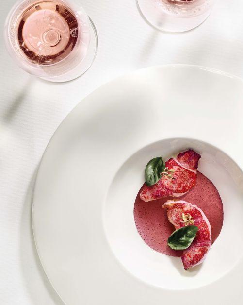 Moët & Chandon Grand Vintage Rosé et homard