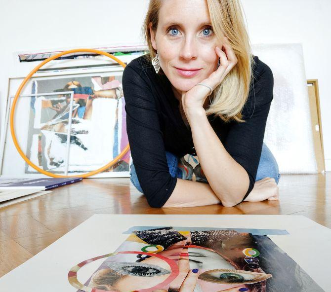 Affordable Art Fair 2021: woon een collageworkshop van kunstenares Veerle Symoens bij - 2