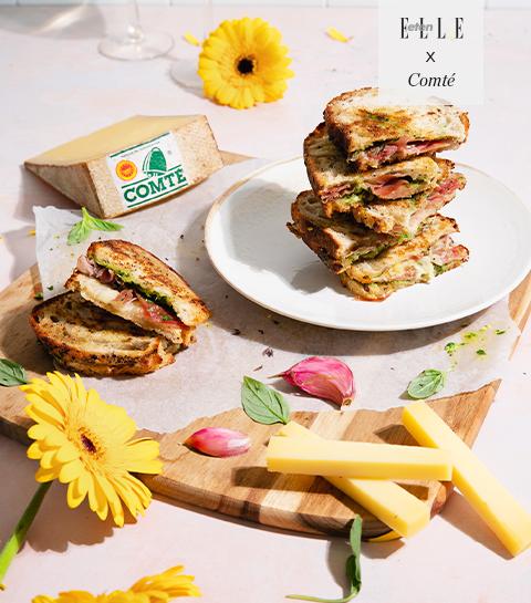 Grilled cheese sandwich met Comté