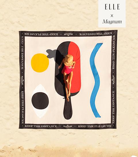 Win een exclusieve designer XXL strandhanddoek met Magnum!