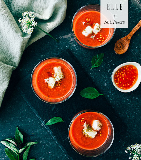 Gazpacho met mediterrane kruiden