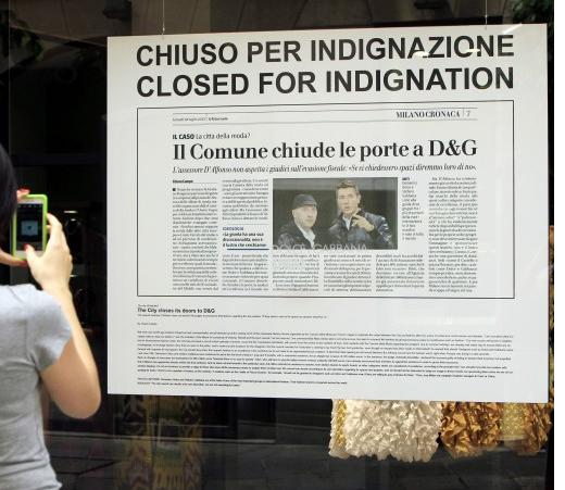 Dolce & Gabbana sluiten eigen winkels uit protest tegen veroordeling