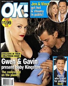 Gwen Stefani en Gavin Rossdale stellen zoon Kingston voor - 2006