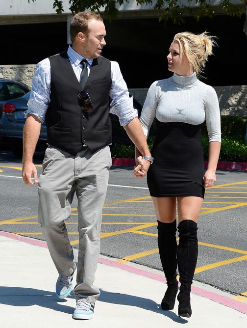 Britney Spears en vriendje David Lucado - 2013