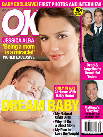 Jessica Alba en dochter Honor - 2008