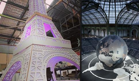 De Eiffeltoren van de Kardashians vs. de wereldbol van Chanel