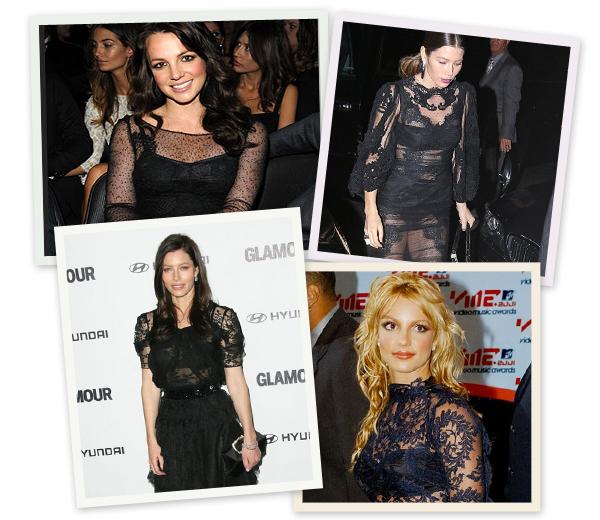 Concurrentie in kant: Jessica Biel versus Britney Spears