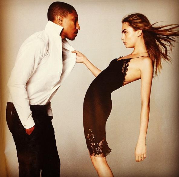 WATCH: Cara Delevingne en Pharrell Williams voor Vogue - 1