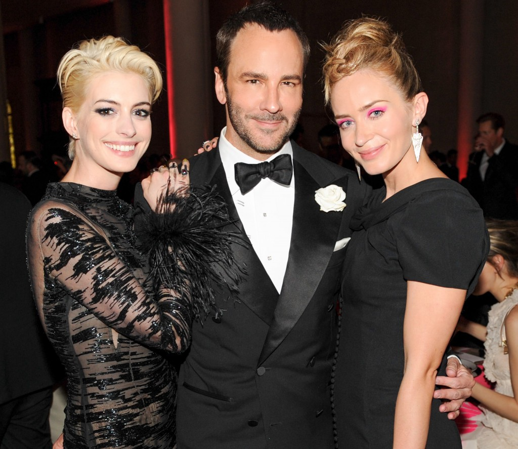 Anne Hathaway, Tom Ford, Emily Blunt
