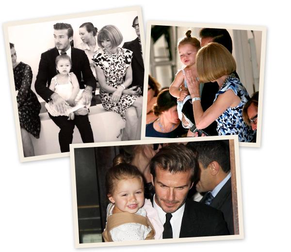 Harper Beckham steelt de show