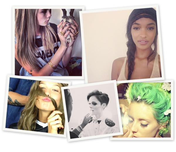 Instagram beauties: wie volgen tijdens de modeweken
