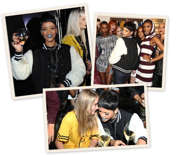 Rihanna stelt nieuwe collectie voor in Londen
