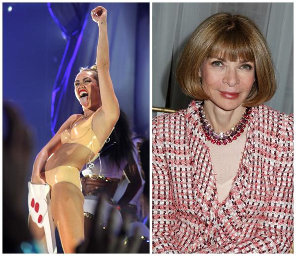 Anna Wintour bant Miley Cyrus van Vogue cover