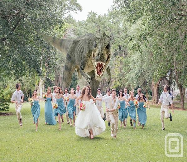 Nieuwste rage: Party attack huwelijksfoto's