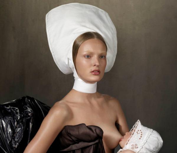 Vogue Nederland choqueert met borstvoeding shoot