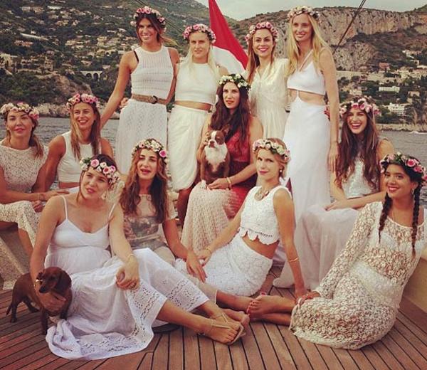 IN BEELD: boho chic koninklijk huwelijk in Monaco