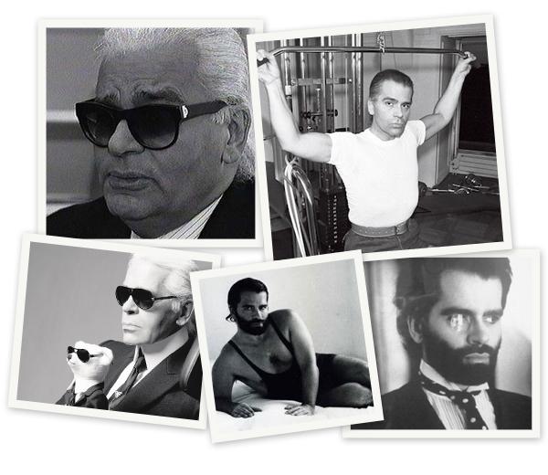 In beeld: de negen levens van Karl Lagerfeld
