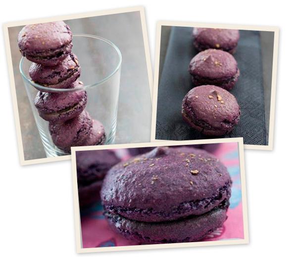 RECEPT. Luchtige macarons met gekristalliseerde viooltjes