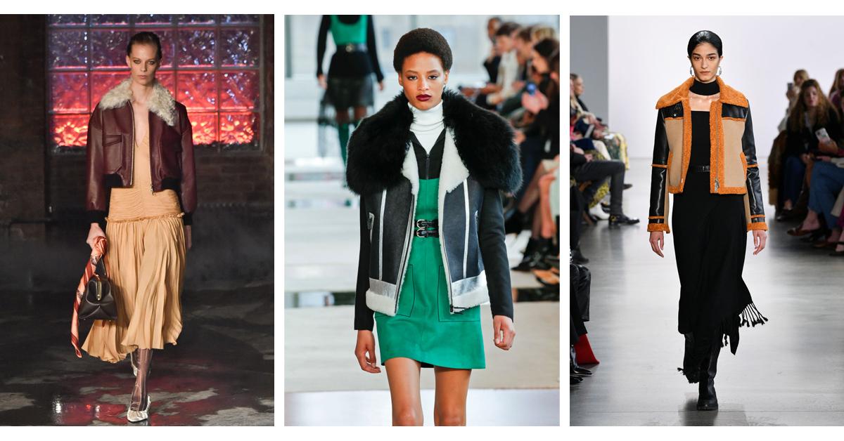 catwalk new york trends fashion week shearling winter