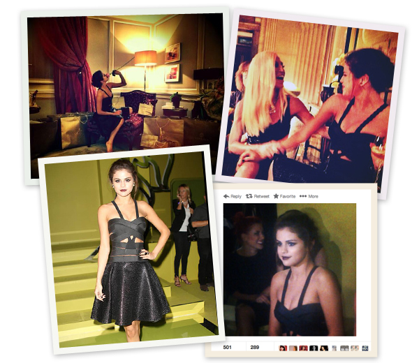 Frontrow gespot: Selena Gomez bij Versace