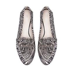 zebra mocassins
